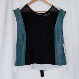 Robbi & Nikki Sheer Sleeveless Blouse